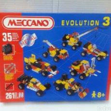 Juegos construcción - Meccano: MECCANO EVOLUTION 3. NUEVO EN CAJA. SIN ABRIR. COMPLETO. 35 MODELOS. 261 PIEZAS. 1995.. Lote 157820864