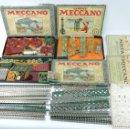 Juegos construcción - Meccano: LOTE 3 MECCANO EN CAJA, CAJA 0, 0A Y 1A, TODO LO QUE SE VE EN LAS FOTOGRAFIAS PUESTAS, INTRUCCIONES,. Lote 159963802