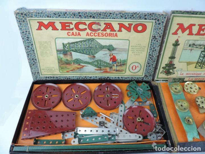 Juegos construcción - Meccano: LOTE 3 MECCANO EN CAJA, CAJA 0, 0A Y 1A, TODO LO QUE SE VE EN LAS FOTOGRAFIAS PUESTAS, INTRUCCIONES, - Foto 3 - 159963802