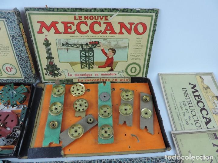 Juegos construcción - Meccano: LOTE 3 MECCANO EN CAJA, CAJA 0, 0A Y 1A, TODO LO QUE SE VE EN LAS FOTOGRAFIAS PUESTAS, INTRUCCIONES, - Foto 4 - 159963802