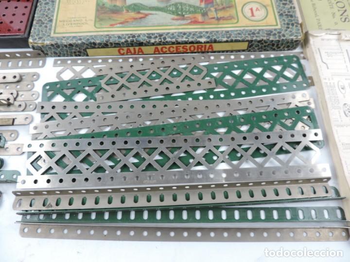 Juegos construcción - Meccano: LOTE 3 MECCANO EN CAJA, CAJA 0, 0A Y 1A, TODO LO QUE SE VE EN LAS FOTOGRAFIAS PUESTAS, INTRUCCIONES, - Foto 8 - 159963802