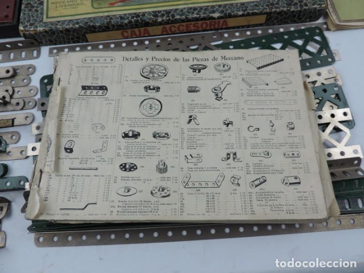 Juegos construcción - Meccano: LOTE 3 MECCANO EN CAJA, CAJA 0, 0A Y 1A, TODO LO QUE SE VE EN LAS FOTOGRAFIAS PUESTAS, INTRUCCIONES, - Foto 9 - 159963802