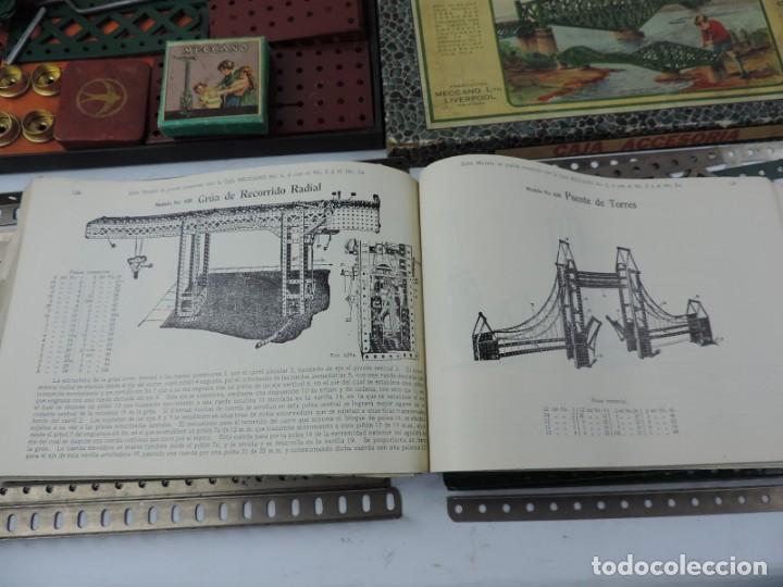 Juegos construcción - Meccano: LOTE 3 MECCANO EN CAJA, CAJA 0, 0A Y 1A, TODO LO QUE SE VE EN LAS FOTOGRAFIAS PUESTAS, INTRUCCIONES, - Foto 11 - 159963802