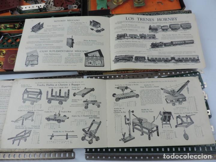 Juegos construcción - Meccano: LOTE 3 MECCANO EN CAJA, CAJA 0, 0A Y 1A, TODO LO QUE SE VE EN LAS FOTOGRAFIAS PUESTAS, INTRUCCIONES, - Foto 13 - 159963802