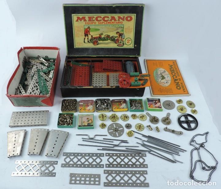 MECCANO EN CAJA 2A, INTRUCCIONES CON CAJAS METALICAS CON TORNILLOS Y PIEZAS METALICAS. TODO LO QUE S (Juguetes - Construcción - Meccano)
