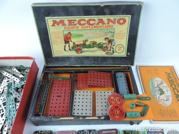 Juegos construcción - Meccano: MECCANO EN CAJA 2A, INTRUCCIONES CON CAJAS METALICAS CON TORNILLOS Y PIEZAS METALICAS. TODO LO QUE S - Foto 2 - 159964434