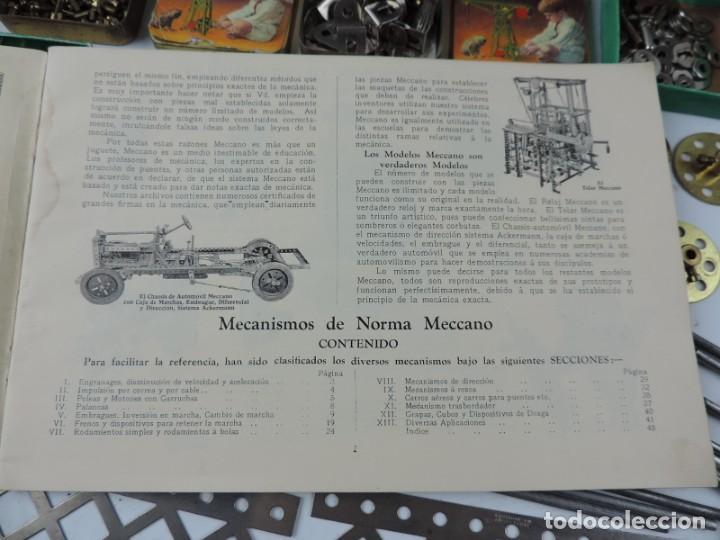 Juegos construcción - Meccano: MECCANO EN CAJA 2A, INTRUCCIONES CON CAJAS METALICAS CON TORNILLOS Y PIEZAS METALICAS. TODO LO QUE S - Foto 8 - 159964434