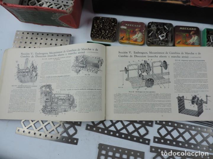 Juegos construcción - Meccano: MECCANO EN CAJA 2A, INTRUCCIONES CON CAJAS METALICAS CON TORNILLOS Y PIEZAS METALICAS. TODO LO QUE S - Foto 9 - 159964434