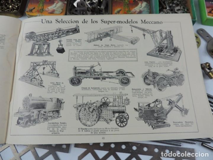 Juegos construcción - Meccano: MECCANO EN CAJA 2A, INTRUCCIONES CON CAJAS METALICAS CON TORNILLOS Y PIEZAS METALICAS. TODO LO QUE S - Foto 10 - 159964434