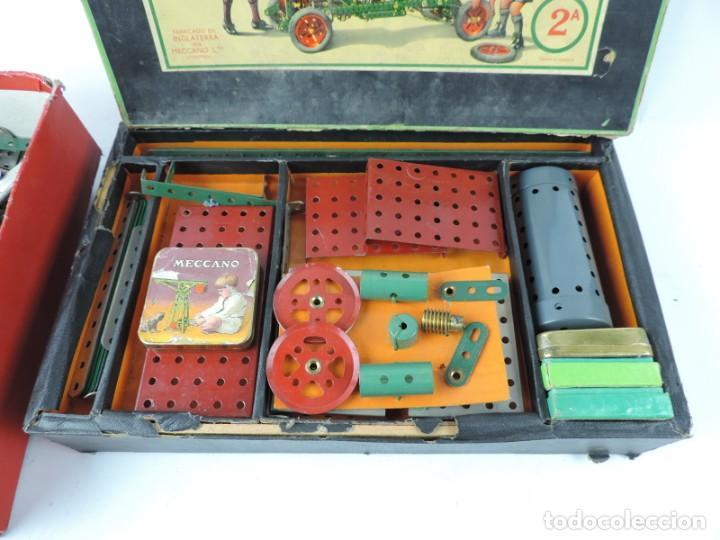 Juegos construcción - Meccano: MECCANO EN CAJA 2A, INTRUCCIONES CON CAJAS METALICAS CON TORNILLOS Y PIEZAS METALICAS. TODO LO QUE S - Foto 11 - 159964434