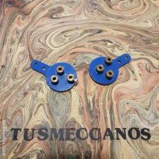 Juegos construcción - Meccano: 2 PIEZAS MECCANO JAMAS USADAS PARTS NUM 130 1970S NEW OLD STOCK . Lote 165522970