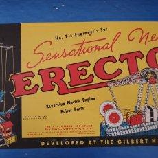 Juegos construcción - Meccano: JUEGO DE CONSTRUCCIÓN ERECTOR. TIPO MECANO. Lote 165701196