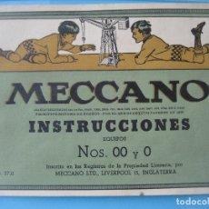 Juegos construcción - Meccano: MECCANO. INSTRUCCIONES EQUIPOS NOS. 00 A 0. NO. 37.11. 36 PAGINAS. Lote 166026970