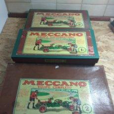 Juegos construcción - Meccano: 3 CAJAS MECCANO AÑOS 30 DE BARCELONA. Lote 167039121