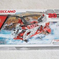 Juegos construcción - Meccano: MECCANO, RESCATE AEREO 20 IN 1 - 406 PIEZAS - BIZAK (NUEVO BOLSAS SIN DESPRECINTAR). Lote 167716128