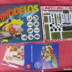 Juegos construcción - Meccano: MECCANO METALING 15 - SUPERMODELOS - POCH - MILITAR 1978 - COMPLETO. Lote 168213832