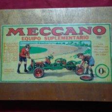 Juegos construcción - Meccano: MALETIN CAJA DE MADERA MECCANO 0 CON VARIOS COMPONENTES. Lote 169963680