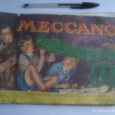 Juegos construcción - Meccano: CATÁLOGO MECCANO. INSTRUCCIONES EQUIPOS Nº 0 A 3 (1958). . Lote 172708637