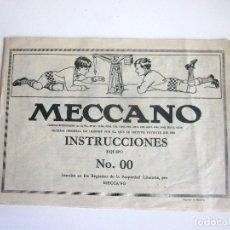 Juegos construcción - Meccano: MECCANO FOLLETO INSTRUCCIONES NO. 00 16 PÁGINAS IMPRESO EN ESPAÑA. Lote 172992585