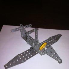 Juegos construcción - Meccano: AVION DESMONTABLE ARTICULADO DE METAL MECCANO MECANO. Lote 177731739