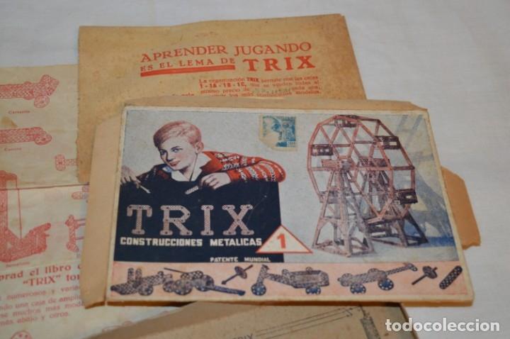 Juegos construcción - Meccano: Antiguo y difícil juego construcciones - TRIX Construcciones metálicas - Núm 1 - Años 50 ¡Una JOYA! - Foto 4 - 178653450