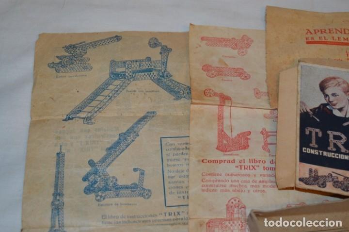 Juegos construcción - Meccano: Antiguo y difícil juego construcciones - TRIX Construcciones metálicas - Núm 1 - Años 50 ¡Una JOYA! - Foto 5 - 178653450