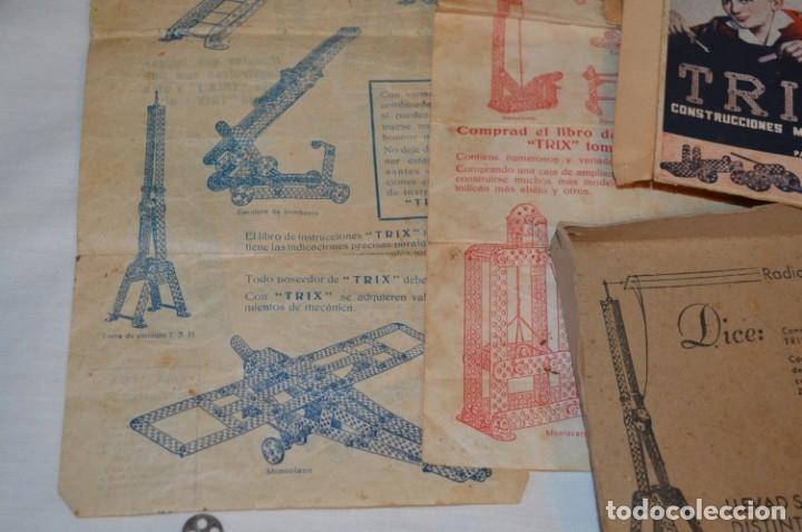 Juegos construcción - Meccano: Antiguo y difícil juego construcciones - TRIX Construcciones metálicas - Núm 1 - Años 50 ¡Una JOYA! - Foto 6 - 178653450