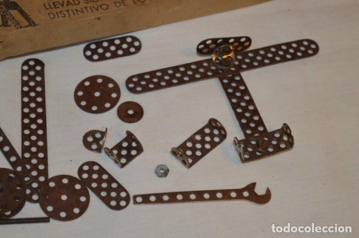 Juegos construcción - Meccano: Antiguo y difícil juego construcciones - TRIX Construcciones metálicas - Núm 1 - Años 50 ¡Una JOYA! - Foto 10 - 178653450