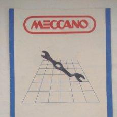 Juegos construcción - Meccano: MANUAL DE INSTRUCCIONES MECCANO 1.. Lote 179298381