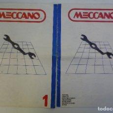 Juegos construcción - Meccano: CATÁLOGOS MECCANO. Lote 180286222