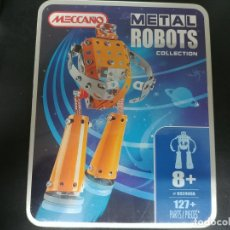 Juegos construcción - Meccano: MECCANO EQUIPO Nº 892400A, CAJA METÁLICA 127 PZAS, PARA MONTAR ROBOT.. Lote 180387112