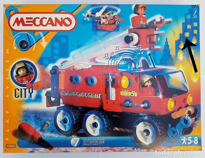 MECCANO CITY SET. 7100 PARA REALIZAR 7 MONTAJES DE BOMBEROS (Juguetes - Construcción - Meccano)