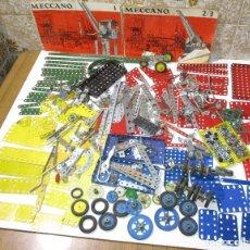 Juegos construcción - Meccano: ANTIGUO LOTE DE PIEZAS MECCANO, CASI 3 KG, CIN INSTRUCCIONES 1, 2/3. Lote 182643106