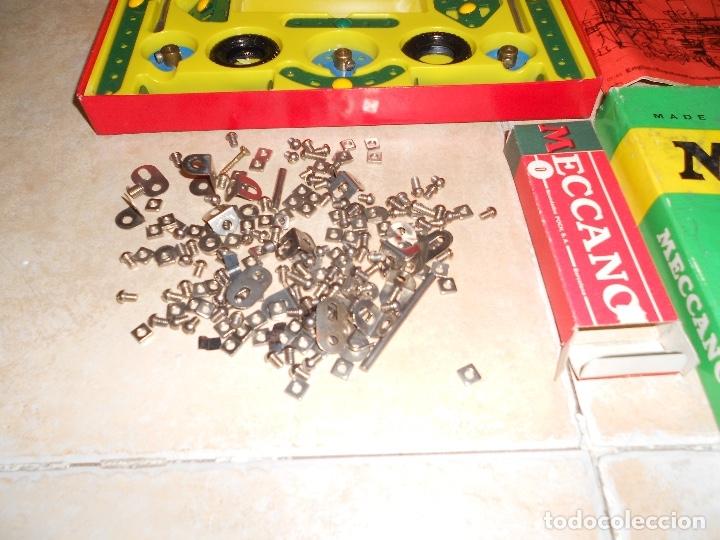 Juegos construcción - Meccano: LOTE 3 CAJAS MECCANO MECANO 0 2 4 MUY COMPLETO Y CASI SIN USO AÑOS 60 - Foto 3 - 183325741
