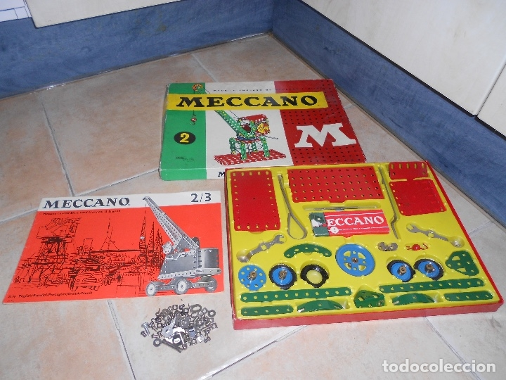 Juegos construcción - Meccano: LOTE 3 CAJAS MECCANO MECANO 0 2 4 MUY COMPLETO Y CASI SIN USO AÑOS 60 - Foto 12 - 183325741
