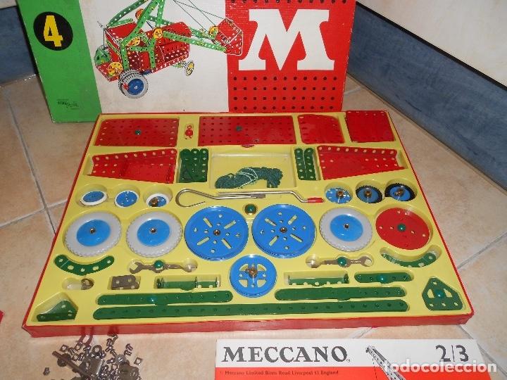 Juegos construcción - Meccano: LOTE 3 CAJAS MECCANO MECANO 0 2 4 MUY COMPLETO Y CASI SIN USO AÑOS 60 - Foto 21 - 183325741