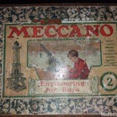 Juegos construcción - Meccano: ANTIGUA CAJA DE MECCANO 2,DE MADERA.. Lote 184250048
