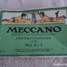 Juegos construcción - Meccano: PRECIOSO CATALOGO MANUEL MECCANO INSTRUCCIONES EQUIPOS 0 A 3 NUMERO 545 JUEGO. Lote 195006241