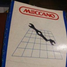 Juegos construcción - Meccano: CATALOGOS MECCANO. Lote 186238327