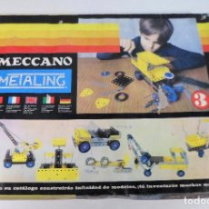 Juegos construcción - Meccano: MECCANO METALING 3 AÑOS 70. Lote 186779513