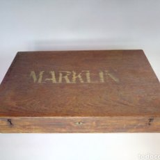 Juegos construcción - Meccano: ENORME CAJA DE MADERA ORIGINAL MARKLIN MÄRKLIN METALLBAUKASTEN NUMERO 6 AÑOS 20 O 30 COMO MECCANO.. Lote 186971162