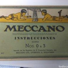 Juegos construcción - Meccano: MECCANO INSTRUCCIONES NUM. 0 A 3. NUM. 41.3. Lote 189994346