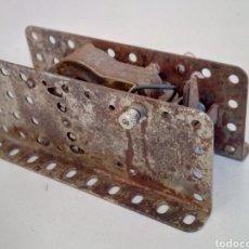 Juegos construcción - Meccano: MOTOR ELÉCTRICO ORIGINAL MECCANO ÉPOCA NÍQUEL FUNCIONANDO. Lote 192803973