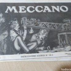 Juegos construcción - Meccano: INSTRUCCIONES MECCANO EQUIPOS 00 - 0 NUM 611 - AÑOS 50. Lote 192883342