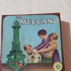Juegos construcción - Meccano: CAJITA MECCANO CON TORNILLERIA EN SU INTERIOR - AÑOS 50. Lote 192883783