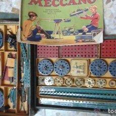 Juegos construcción - Meccano: NTERESANTE EQUIPO MECCANO. GRAN CANTIDAD DE PIEZAS + 2 CAJAS LITOGRAFIADAS + INSTRUCCIONES. Lote 194395352