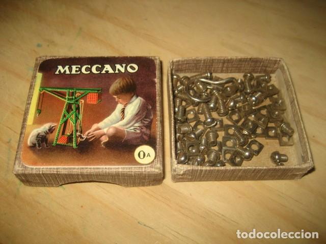 ANTIGUA CAJA MECCANO 0A CON PIEZAS (Juguetes - Construcción - Meccano)