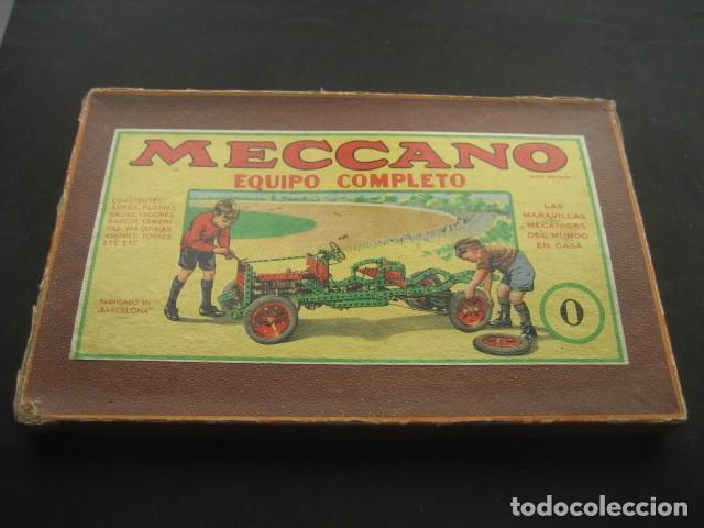 CAJA MECCANO CON PIEZAS. NUMERO 0 (Juguetes - Construcción - Meccano)