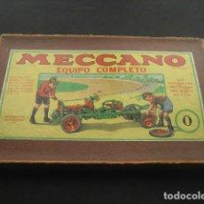 Juegos construcción - Meccano: CAJA MECCANO CON PIEZAS. NUMERO 0. Lote 194400910