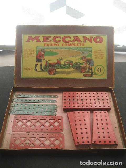 Juegos construcción - Meccano: CAJA MECCANO CON PIEZAS. NUMERO 0 - Foto 2 - 194400910